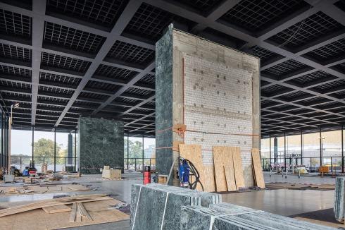 bauwelt die sanierung der neuen nationalgalerie in berlin. Black Bedroom Furniture Sets. Home Design Ideas