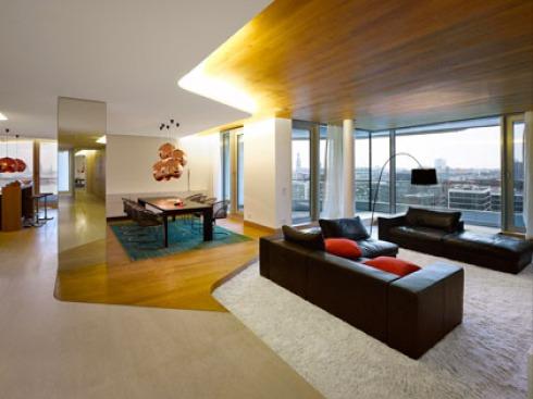 BAUWELT - Marco Polo Tower: Luxus Wohnen im Behnisch-Turm